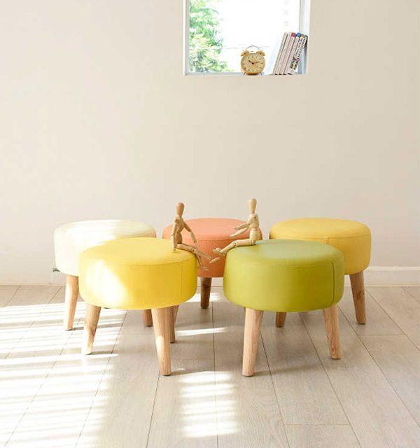 Đôn ghế sofa tròn phòng khách