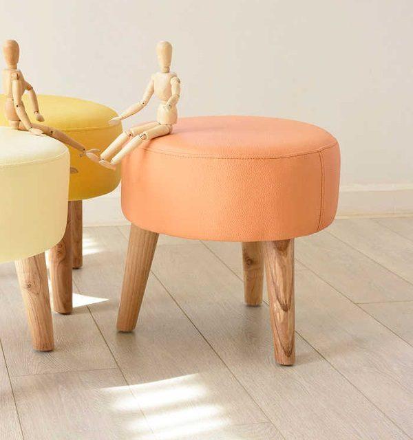 Đôn ghế sofa tròn phòng khách Ds001