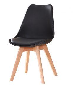 Ghế eames mặt nệm chân gỗ (1)