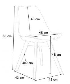 Kích thước ghế eames có nệm
