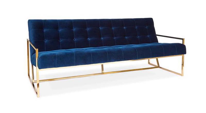 Ghế Bella sofa chân inox vàng