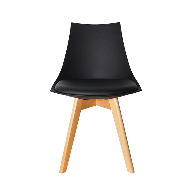 Ghế ăn Eames mặt nệm chân gỗ WC015
