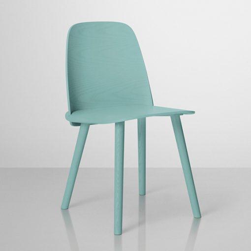 Ghế ăn Muuto chair màu xanh biển