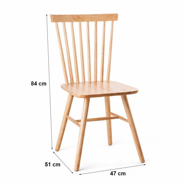 Ghế bàn ăn Pinnstol gỗ cao su tư nhiên cao cấp