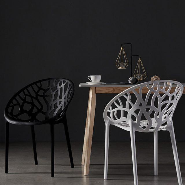 Ghế nhựa Crystal hiện đại cho quán trà sữa
