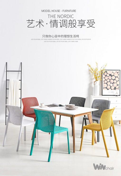 Ghế nhựa bàn ăn đẹp hiện đại WC023