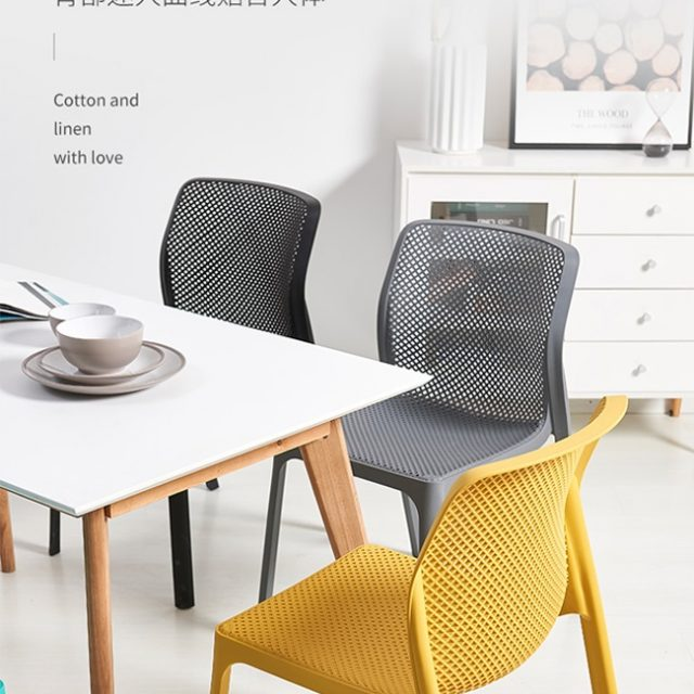 Ghế nhựa WC023 kết hợp với bàn ăn