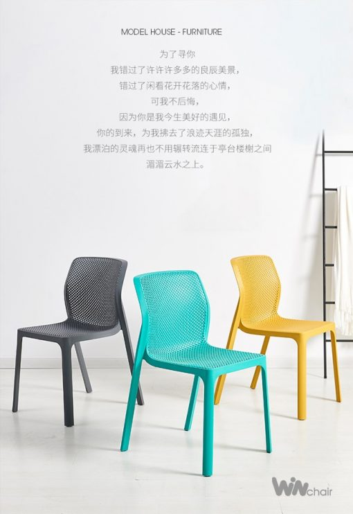 Một số màu sắc của mẫu ghế nhựa WC023