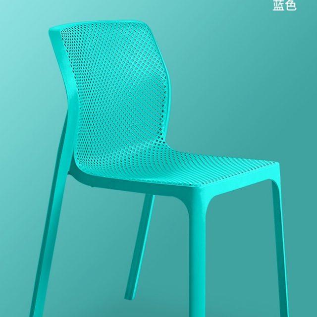 Ghế nhựa WC023 màu xanh