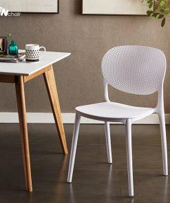 Ghế nhựa WC018 màu trắng