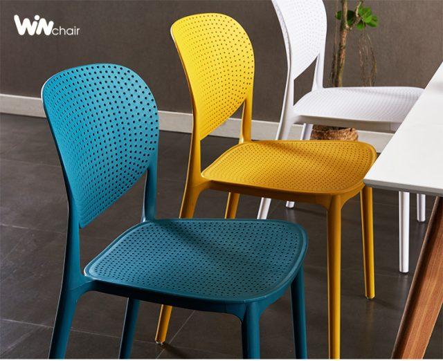 Ghế nhựa WC018 phù hợp cho không gian nội thất hiện đại