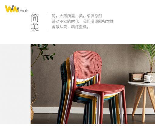 Màu sắc ghế nhựa WC018 rất phong phú và đa dạng