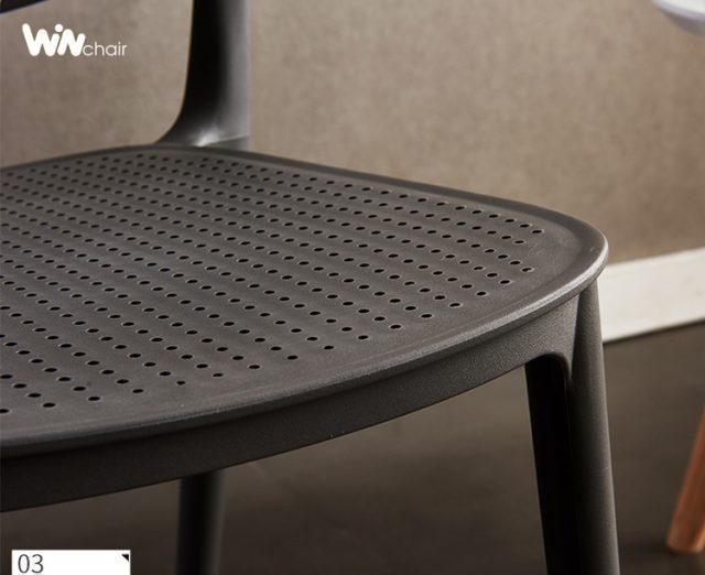 chi tiết ghế nhựa wc018