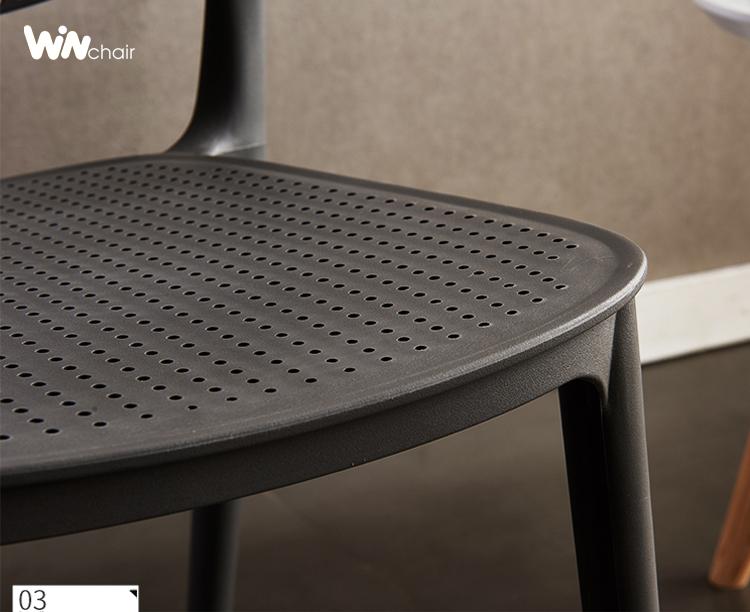 chi tiết ghế nhựa Ponny