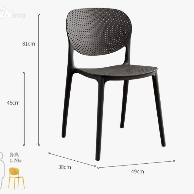 Kích thước ghế nhựa WC018