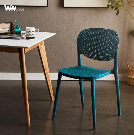 Ghế nhựa WC018 màu xanh