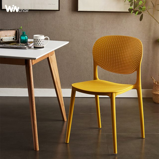 Ghế nhựa WC018 màu vàng