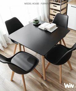 Bộ bàn vuông 4 ghế Eames hiện đại CB004