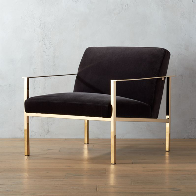 Cue chair sofa đơn chân inox