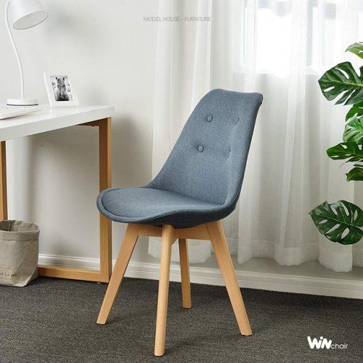 Ghế Eames chân gỗ sồi mặt full nệm WC056
