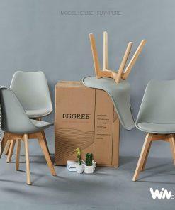 Ghế Eames mặt nệm màu xám WC051