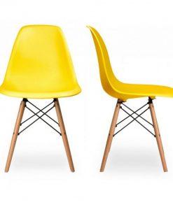 Ghế bàn ăn eames màu vàng WC041