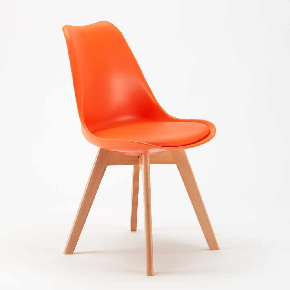 Ghế eames màu cam hiện đại