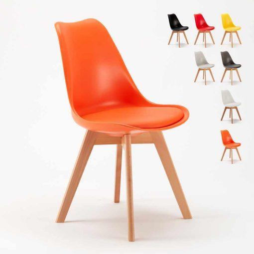 Ghế eames có nệm màu cam WC044