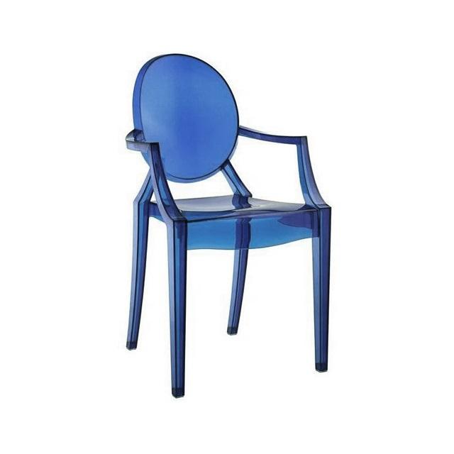 Ghế nhựa trong màu xanh win chair