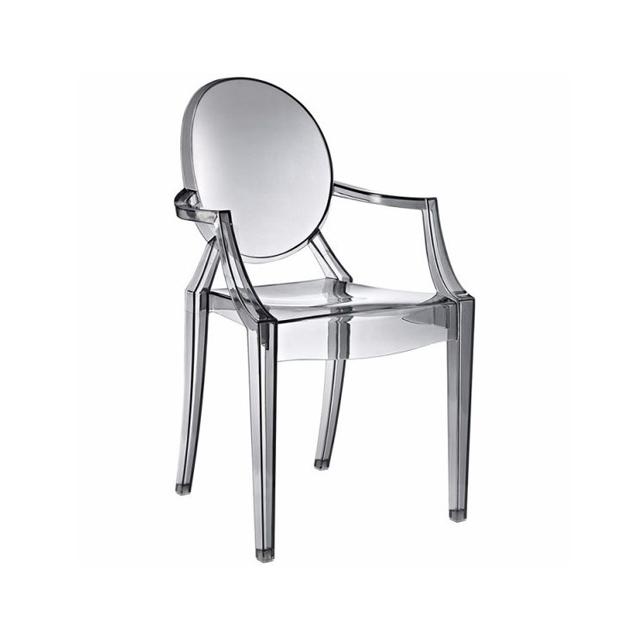 Ghế nhựa trong Win chair màu xám WC003