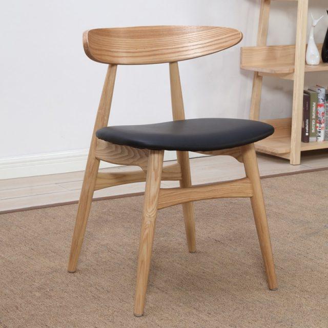 Moon chair ghế ăn gỗ ash