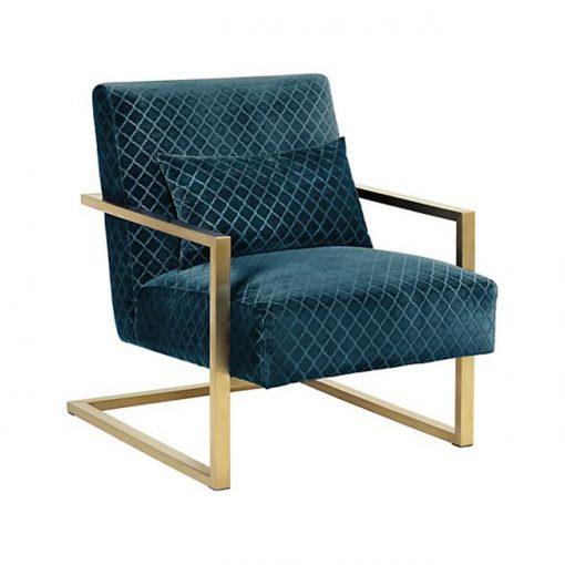 Pin chair ghế sofa đơn chân inox mạ vàng sang trọng