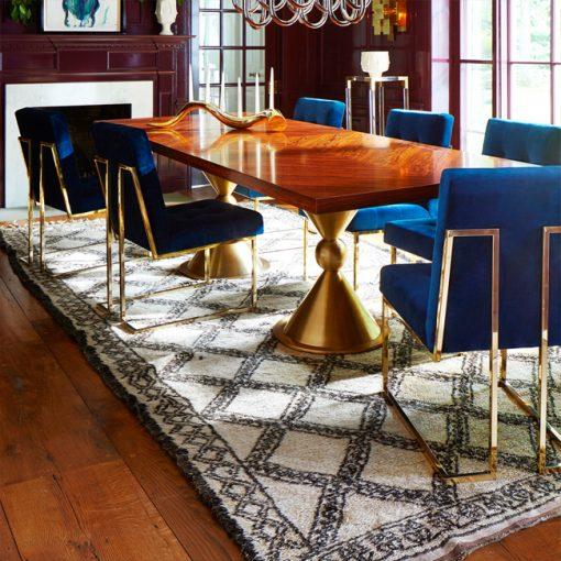 obey chair ghế ăn chân inox mạ vàng