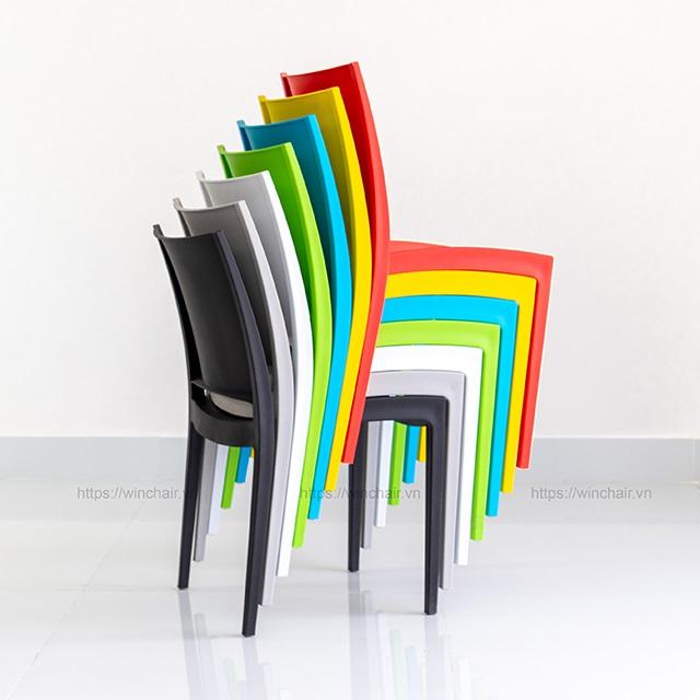Top 5 mẫu ghế nhựa xếp chồng đẹp 2020