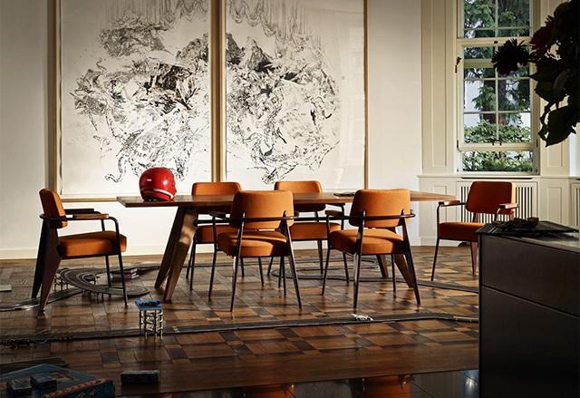 Ghế cafe nhà hàng Vitra chair brown