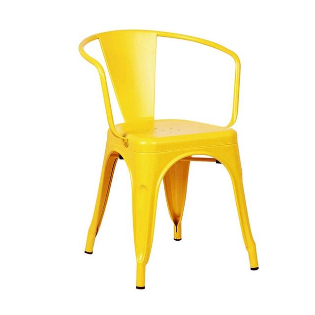 Ghế Tolix A có tay màu vàng