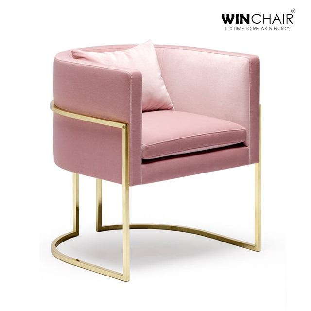 sofa đơn chân inox xi vàng