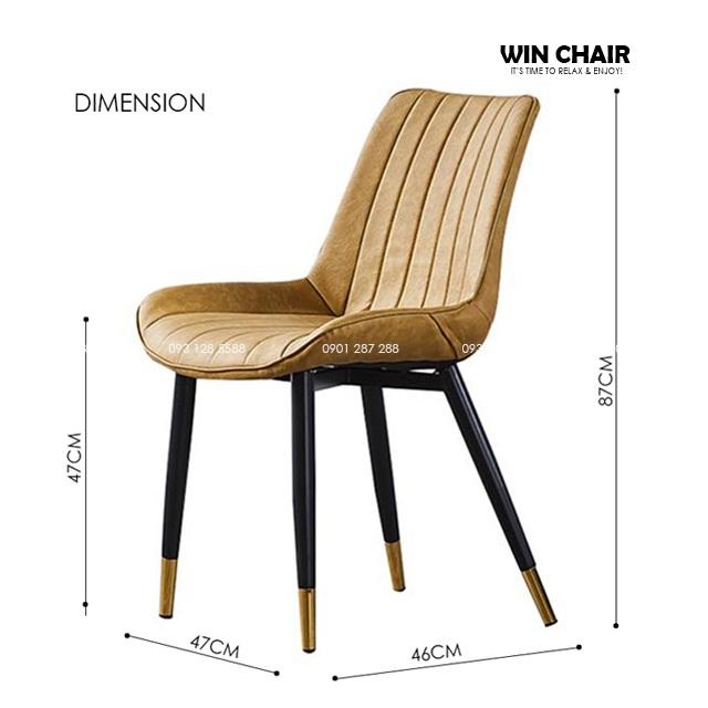 Kích thước ghế ăn Nordic chair WC204