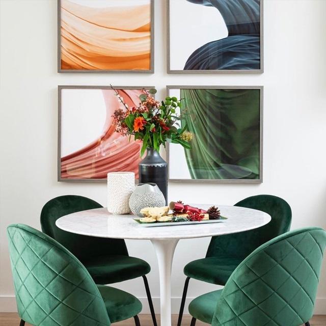 Ghế bàn ăn Mia green WC170