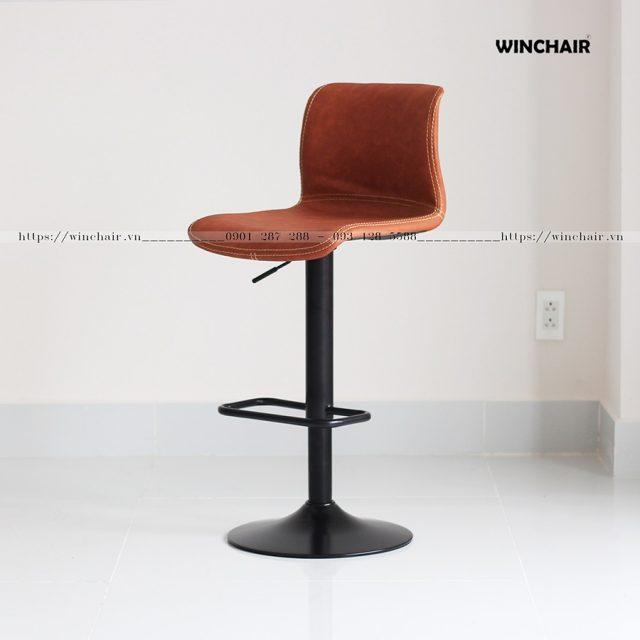 Ghế quầy bar nệm da chân sắt Ventu WC217