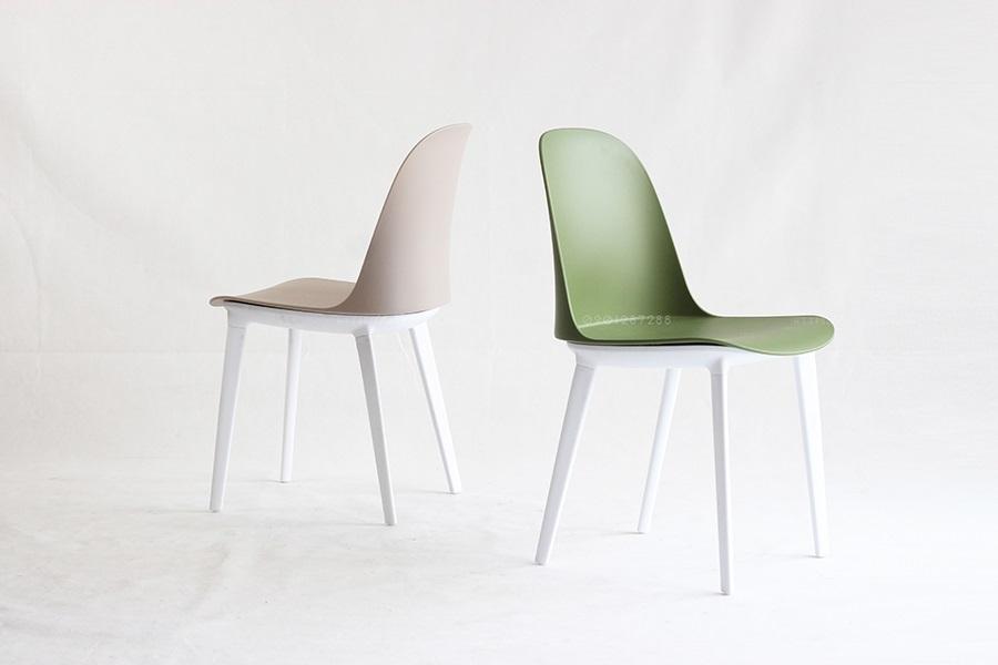 Mẫu ghế nhựa Gaia chân trắng
