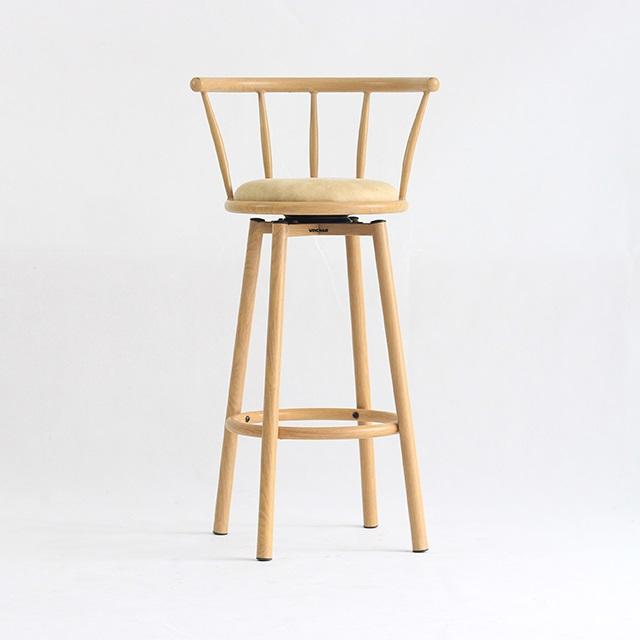 Ghế bar Bamboo màu kem