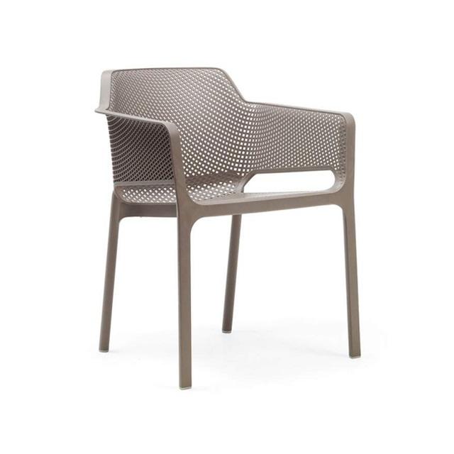 Ghế nhựa cao cấp Net chair màu nâu