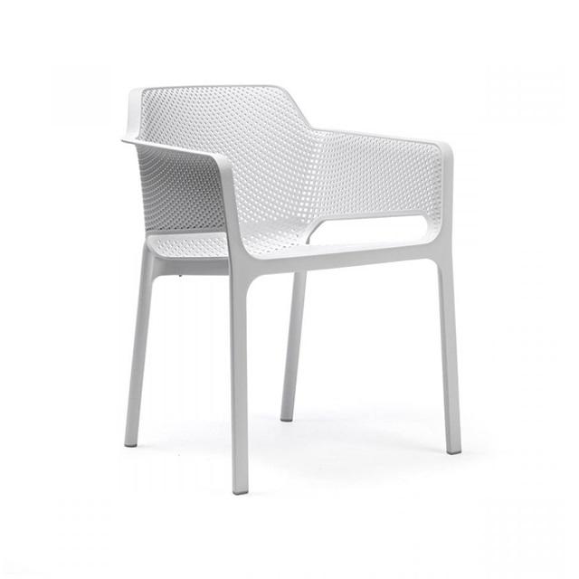 Ghế nhựa cao cấp Net chair màu trắng