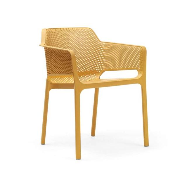 Ghế nhựa cao cấp Net chair màu vàng