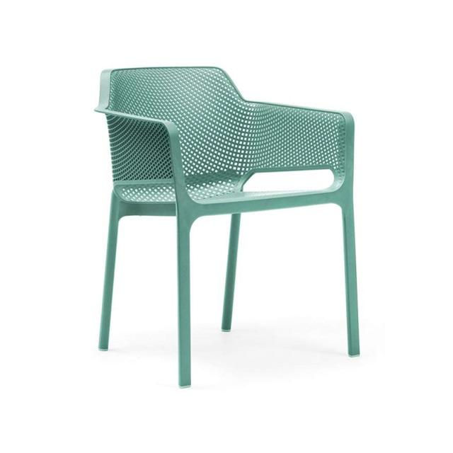 Ghế nhựa cao cấp Net chair màu xanh lá bạc