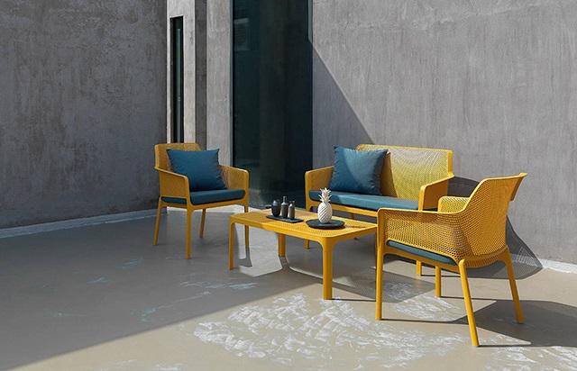 Bộ sản phẩm ghế nhựa ngoài trời cao cấp Net Relax