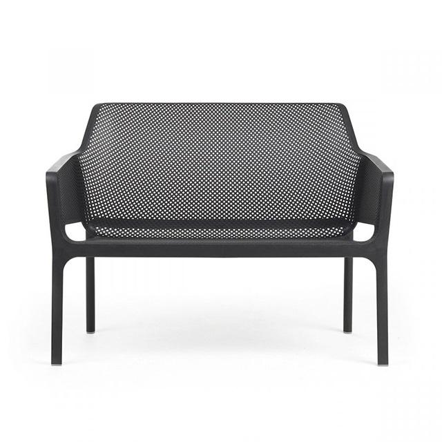 Ghế nhựa ngoài trời cao cấp Net Bench màu đen