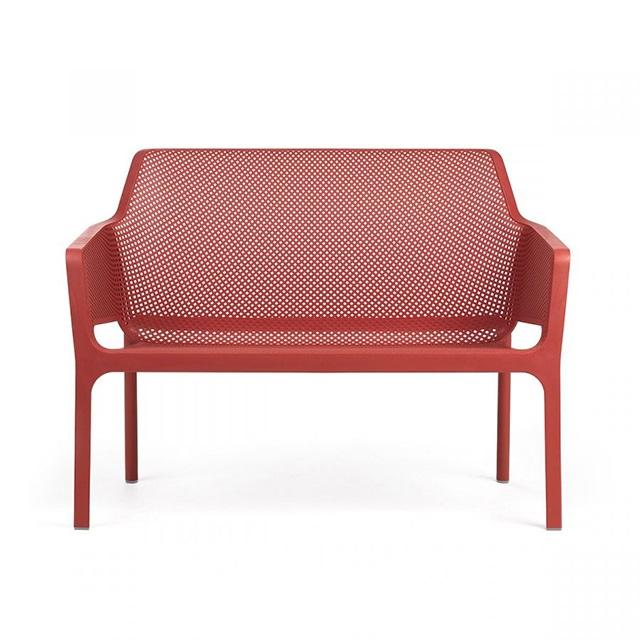 Ghế nhựa ngoài trời cao cấp Net Bench màu đỏ