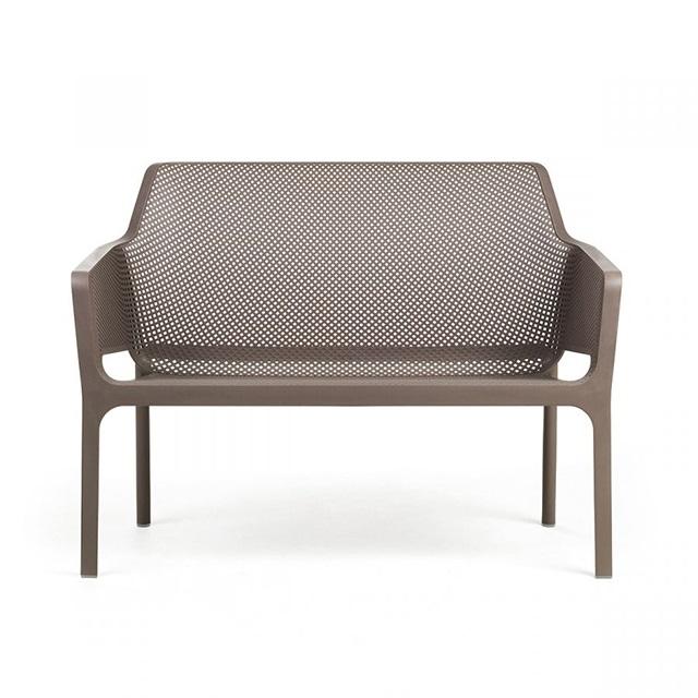 Ghế nhựa ngoài trời cao cấp Net Bench màu nâu đậm